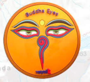 "Washable Rubber Magnet – ""Buddha Eye (Orange)"""