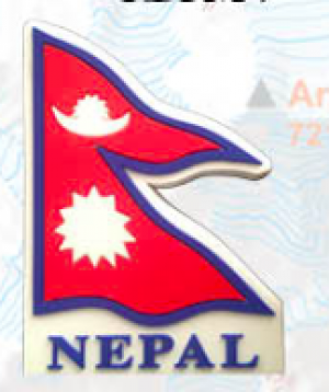 "Washable Rubber Magnet – ""Flag of Nepal"""