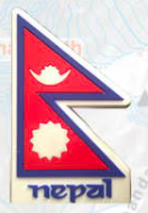 "Washable Rubber Magnet – ""Nepali Flag"""