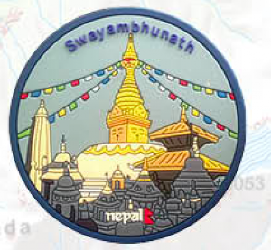 "Washable Rubber Magnet – ""Swayambhunath"""
