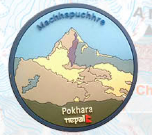 "Washable Rubber Magnet – ""Maccapucchre – Pokhara"""