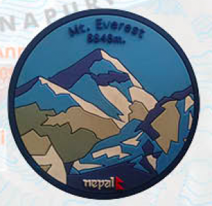 "Washable Rubber Magnet – ""Mt. Everest"""