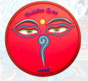 "Washable Rubber Magnet – ""Buddha Eye (Red)"""