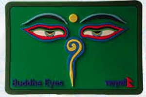 "Washable Rubber Magnet – ""Square Buddha Eye (Green)"""
