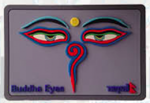 "Washable Rubber Magnet – ""Square Buddha Eye (Purple)"""
