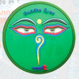 "Washable Rubber Magnet – ""Buddha Eye (Green)"""