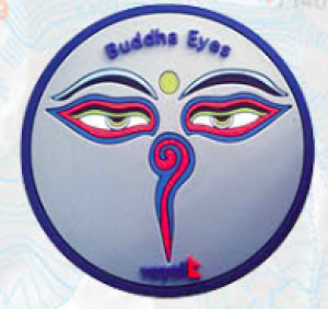 "Washable Rubber Magnet – ""Buddha Eye (Blue)"""