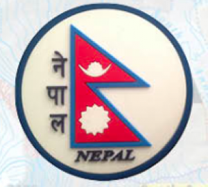 "Washable Rubber Magnet – ""Nepali Flag (Circle)"""
