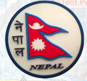 "Washable Rubber Magnet – ""Flag of Nepal (Circle)"""