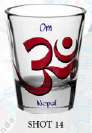 "Shot Glass: ""OM"""