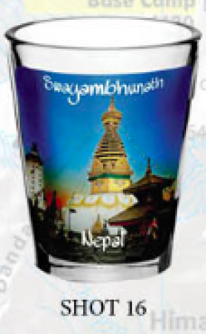 "Shot Glass: ""Swayambhunath"""