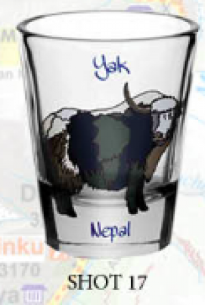 "Shot Glass: ""Yak"""
