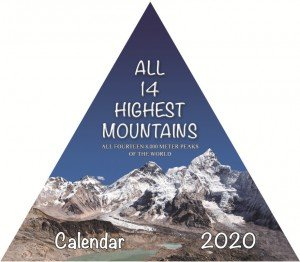 All 14 Highest Mountains Pyramid Desktop Calendar 2020 (2.239)