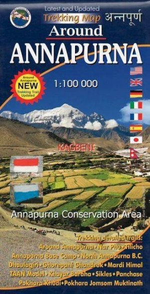 Trekking Map Around Annapurna