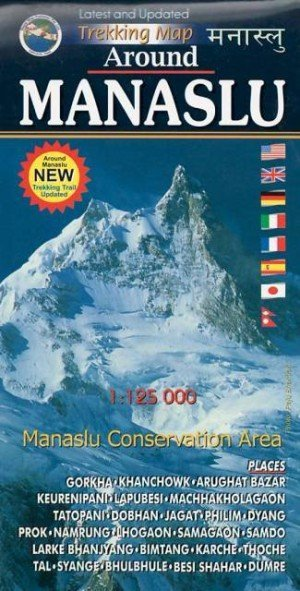 Trekking Map Around Manaslu