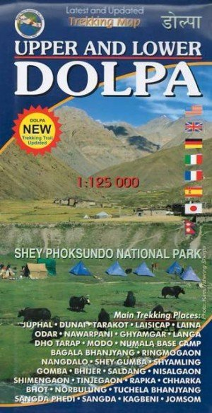 Trekking Map Upper and Lower Dolpa