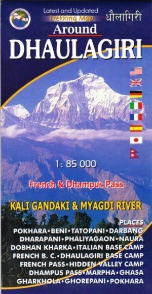 Trekking Map Around Dhaulagiri