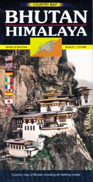 Country Map Bhutan Himalaya