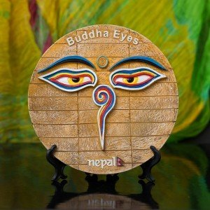 Decorative Buddha Eyes Ceramic Plate