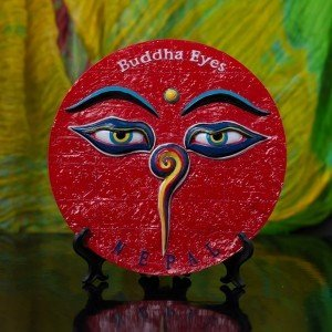 Decorative Buddha Eyes Ceramic Plate 3