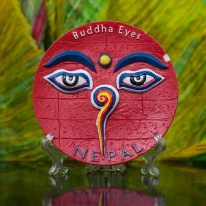 Decorative Buddha Eyes Ceramic Plate 2