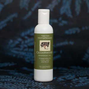 Tibetan Hotsprings Cedarwood Massage Oil (110 ml.)