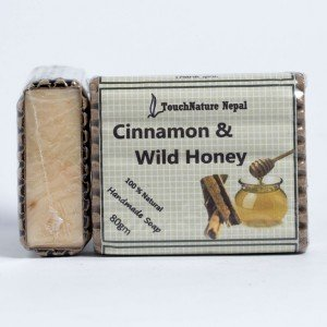 Touch Nature Cinnamon and Wild Honey Soap (80 gms.)