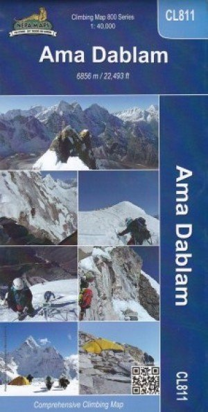Ama Dablam Climbing Map CL811