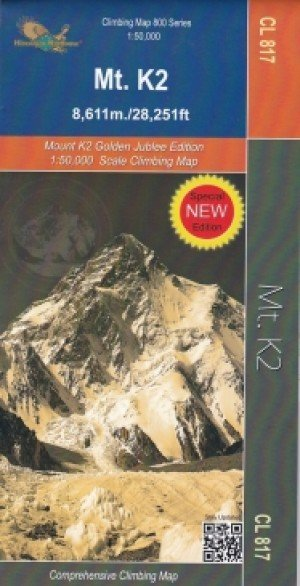 Climbing Map Mt K2 CL817