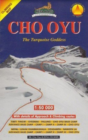 Climbing Map Cho Oyu The Turquoise Goddess