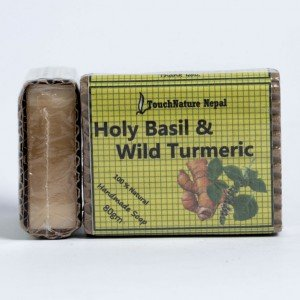 Touch Nature Holy Basil and Wild Turmeric Soap (80 gms.)