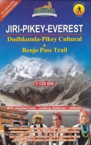 Trekking Map Jiri Pikey Everest