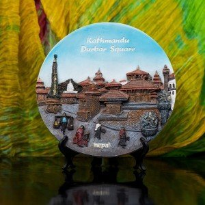Decorative Kathmandu Durbar Square Ceramic Plate