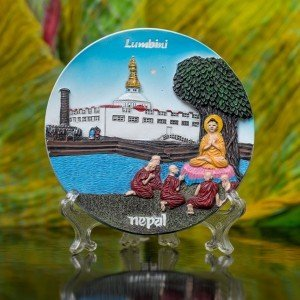 Decorative Lumbini Ceramic Plate