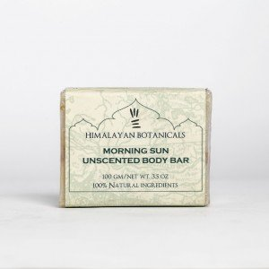 Himalayan Botanicals Morning Sun Unscented Body Soap (100 gms.)