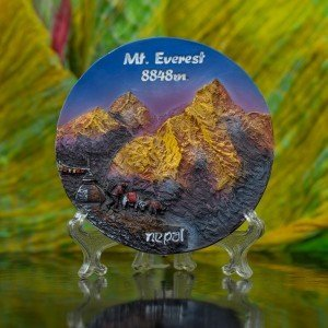 Decorative Mt. Everest 8848m. Ceramic Plate 1