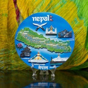 Decorative Nepal Ceramic Plate