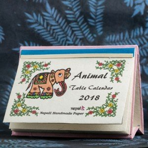 "Table Calendar 2018 – ""Animal"""