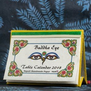 "Table Calendar 2018 – ""Buddha Eye"""