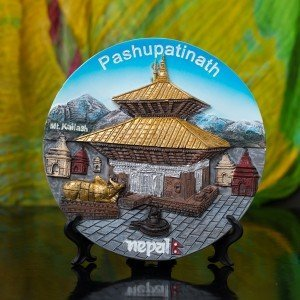 Decorative Pashupatinath Ceramic Plate