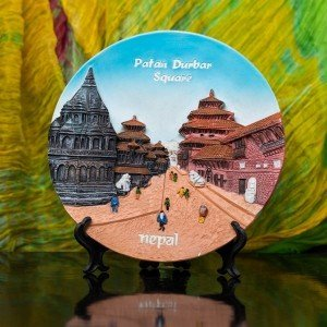 Decorative Patan Durbar Square Ceramic Plate