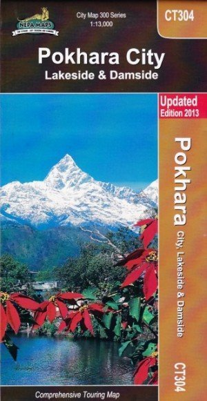 Pokhara City Lakeside & Damside City Map CT304