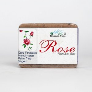 Himalayan Aroma Rose Natural Bar Soap (100 gms.)
