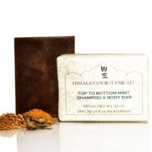 Himalayan Botanicals Top To Bottom Mint Shampoo And Body Soap
