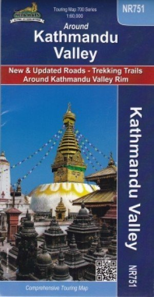 Touring Map Around Kathmandu Valley NR751