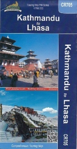 Touring Map Kathmandu To Lhasa CR705