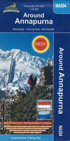 Trekking Map Around Annapurna NA504