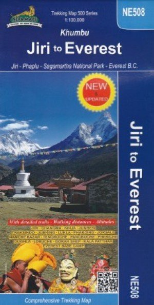 Trekking Map Khumbu Jiri to Everest NE508