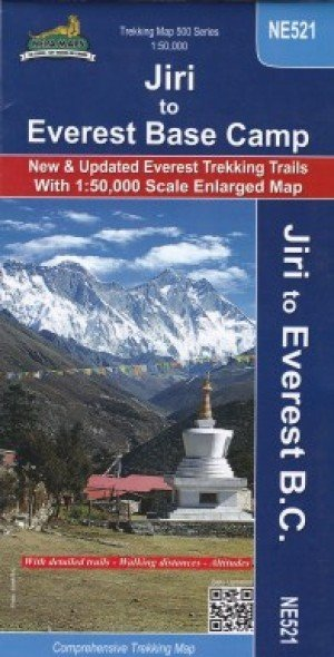 Trekking Map Jiri Everest Base Camp NE521