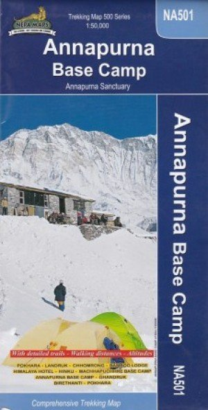 Annapurna Base Camp Trekking Map NA501